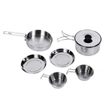 KINGCAMP BACKPACKER III SILVER YEMEK SET (2 KISI)